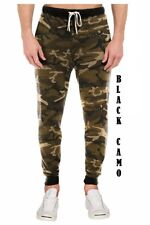 Mens Jogger Pants Camo Fashion Trousers Casual Sports Thick Jogger SweatPants