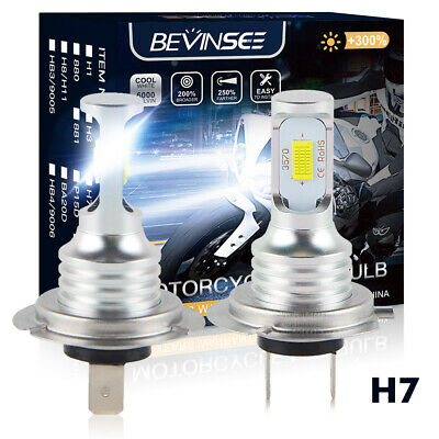 Bevinsee H7 LED Headlight For Scooter Aprilia Scarabeo 500 IE Sportcity 125 250