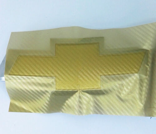 2XCHAMELEON CARBON FIBER Chevy Bowtie Emblem Overlay Sheets Vinyl Decal Wrap