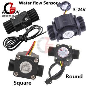 Water-Flow-Sensor-DN25-DC-5-24V-AC-220V-3A-G1-2-Fluid-Flowmeter-Switch-Counter