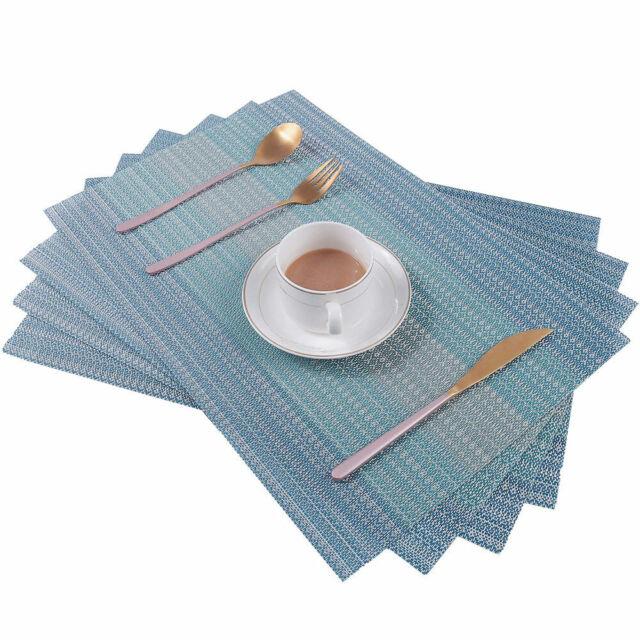 Placemats Pvc Placemat For Kitchen Table Woven Vinyl Table Mats 12
