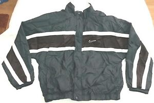 Verde zip Sz Full Nike Vtg Vintage L rompevientos Hombres 90s Chaqueta negro xqtCXn0wO