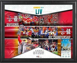 "Kansas City Chiefs Frmd 16"" x 20"" Super Bowl LIV Champs Road to the SB Collage"