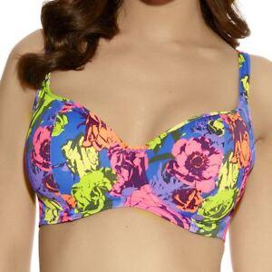 Freya baño Bañadores Floral Top de bikini acolchado pop romántico arco iris 3157