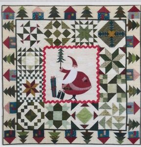 Christmas Quilt Patterns.Details About Santa S Village Fun Applique Pieced Christmas Quilt Pattern