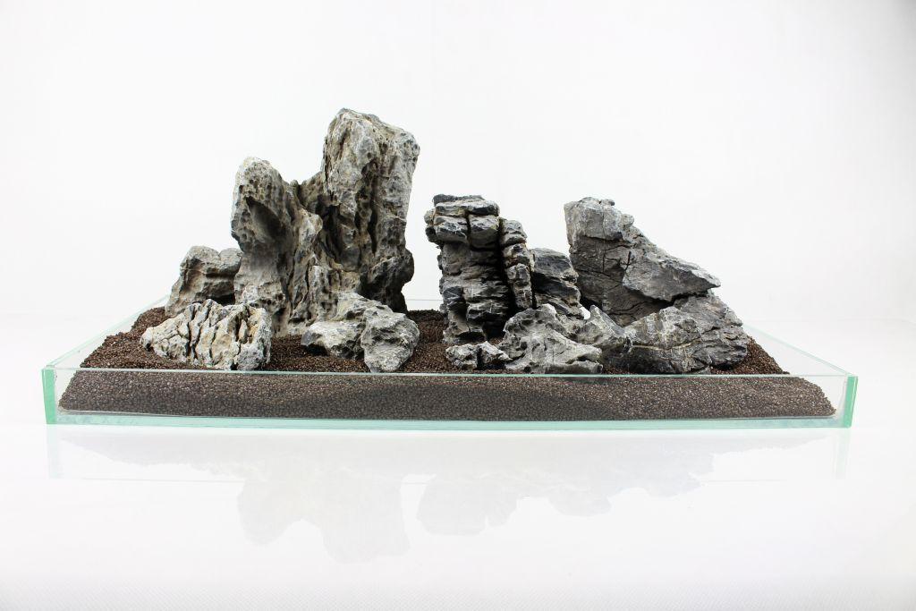 grau MOUNTAIN ROCK AQUARIUM IWAGUMI STYLE SET OF STONES STONES STONES AQUASCAPING NATURAL ee5307