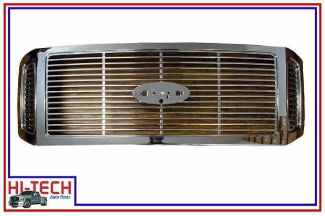 NEW 05 06 07 FORD F250 F350 SUPER DUTY ALL CHROME BILLET STYLE GRILLE
