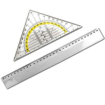 Winkelmesser Kompass und Radiergummi Geodreieck Lineal Sharplace 11 pcs Geometrie Set f/ür Sch/üler Kompass Mathematik