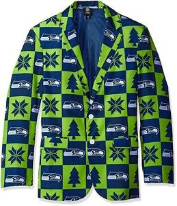 image is loading seattle seahawks super fan sport coat jacket size - Seahawks Christmas Sweater