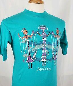 Vtg-Hazelwood-Premo-Arizona-T-Shirt-M-Native-American-Southwest-Single-Stitch