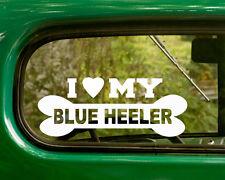 2 I LOVE MY BLUE HEELER  DOG DECALs Breed Sticker Car Truck Laptop Window Bumper
