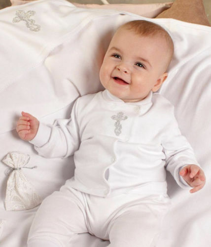 Baby Boy Christening Clothes Outfit White Cotton