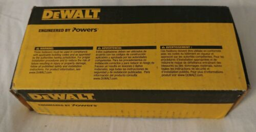 "DEWALT 06306 STEEL DROPIN 3//8/"" X 1 9//16/"" X1//2/"" Masonry Concrete Anchor BOX OF 50"
