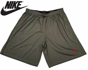 fresh styles best deals on new collection Details about New Nike Solid Basketball Active Shorts Dark Grey Gray Red  Logo 4XL