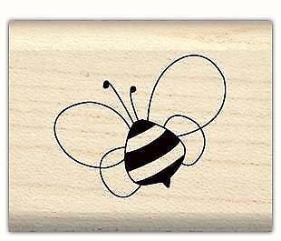 BUMBLING BEE Mounted Rubber Stamp InkaDinkaDo