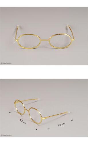 Round Steel Lensless Frames Glasses DOLLMORE BJD NEW Mokashura Size Gold