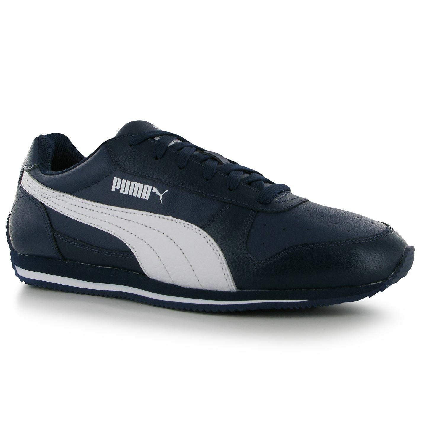 Puma Fieldsprint LNM Mens shoes Trainers Peacoat  White Sneakers Sports Footwear