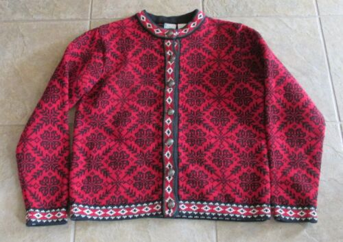 Vintage LL Bean Women's Nordic Sweater SZ MED 100% Cotton Fair ...