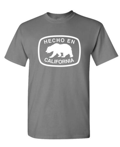 Unisex Cotton T-Shirt Tee Shirt HECHO EN CALIFORNIA