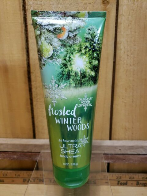 Bath & Body Works Frosted Winter Woods 24 Hr Moisture ULTRA SHEA Cream 80% Full