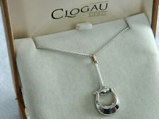 """Welsh Clogau Silver /& Rose Gold Cariad Inner Charm Pendant 22/"""" Chain RRP £169"""