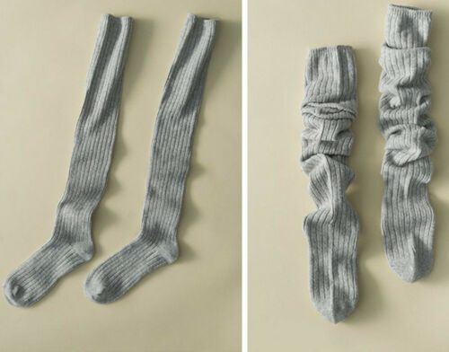 Women Girl Cable Knit Extra Long Boot Socks Over Knee School Thigh High Stocking