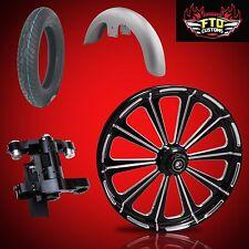 """Harley 26 inch Big Wheel Builder kit, Wheel, Tire, Neck, & Fender, """"Redemption"""""""