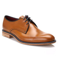 Loake Mens Shoes Tan Brown Drake Leather Derby Smarts Lace Up Dress Formal