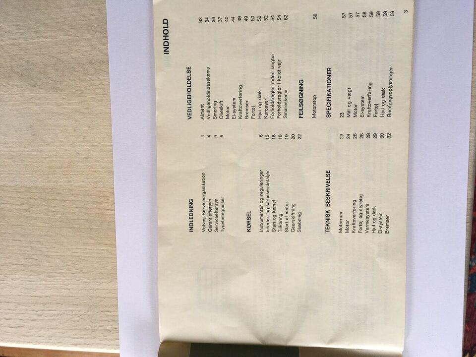 Instruktionsbog, Volvo 140