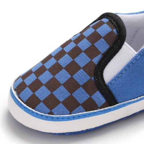 Newborn to 18 Baby Boy Crib Shoes Infant Casual Shoes Slip-on PreWalker Trainers