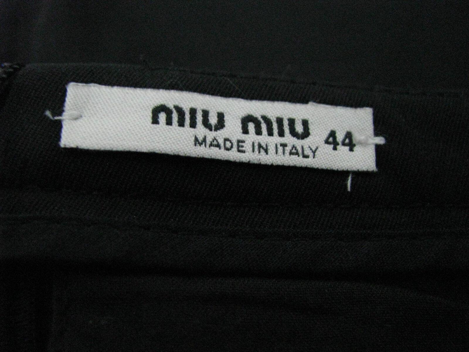 Miu Miu Negro De Lana     Falda De Algodón Talle 44 bd80ca