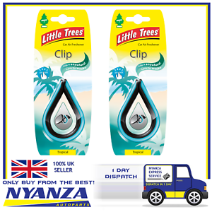 2-X-Magic-Tree-Tropical-Clip-Little-Tree-Air-Freshener-Car-Home-Freshener