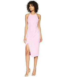 Bardot Brand Marsh Pink Cara Asym Dress Size 10 BNWT #SR90