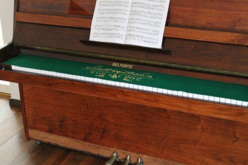 Klavierläufer Tastenläufer bestickt aus 100/% Wolle Grün