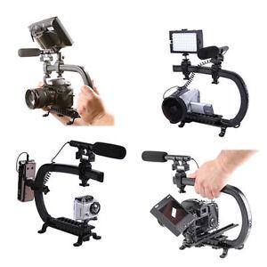 C Bracket Video Handle Handheld Stabilizer Grip for DSLR Camera DV Camcorder