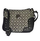 TOMMY HILFIGER Womens Crossbody Bag/Handbag/Purse Black Studded NEW NWT $69