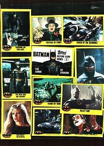 1989 Topps Batman Series 2 Trading Card Set (132) Cards Nm/Mt