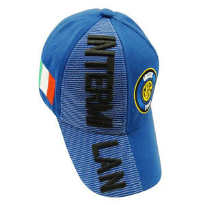 98f5b8b7bda90 INTER MILAN BLUE COUNTRY FLAG FIFA SOCCER WORLD CUP EMBOSSED HAT CAP ...