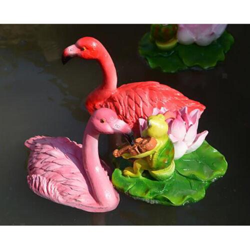 Pink Lawn Flamingo Figurine Resin Statue Grassland Garden Hunting Decor A