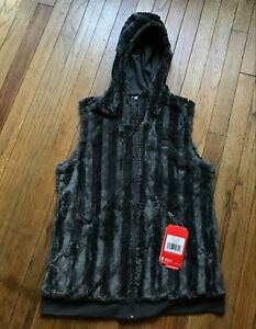 ee864cac8549 NEW The North Face Women s Furlander Vest Hoodie Asphalt Gray Fleece ...
