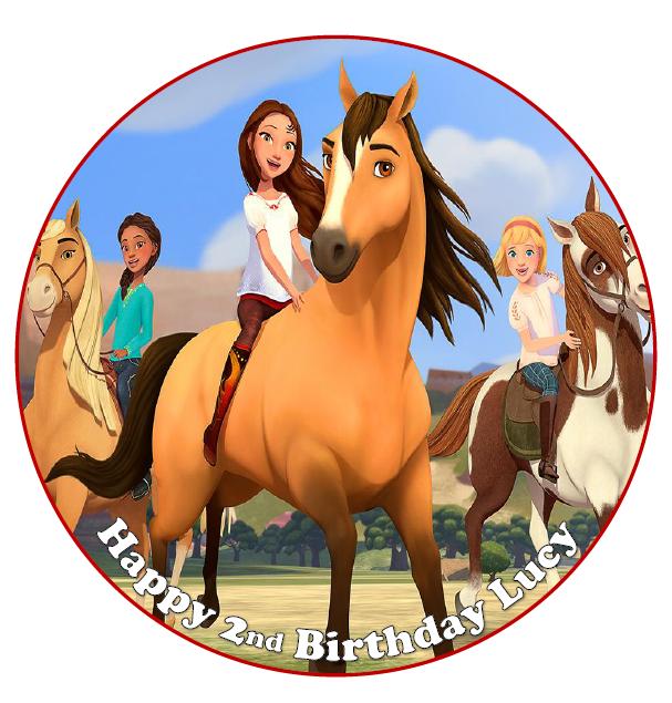 SPIRIT HORSES Cake topper Personalized Birthday 1/4 Sheet ...