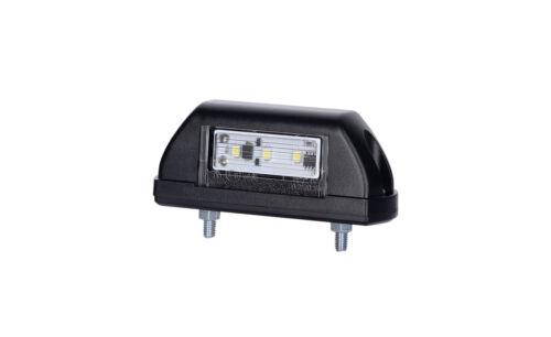 LTD702 LED number plate lamp black
