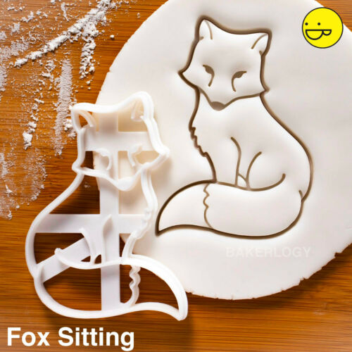 Fox Sitting cookie cutteranimal enchanted forest woodland creatures whimsical