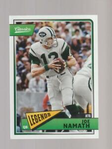 2018 Panini Classics #163 Joe Namath NY Jets Legend Football Card