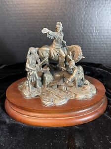 """Chilmark Pewter """"CHIEF JOSEPH"""" Registered Edition # 3332 By Don Polland"""