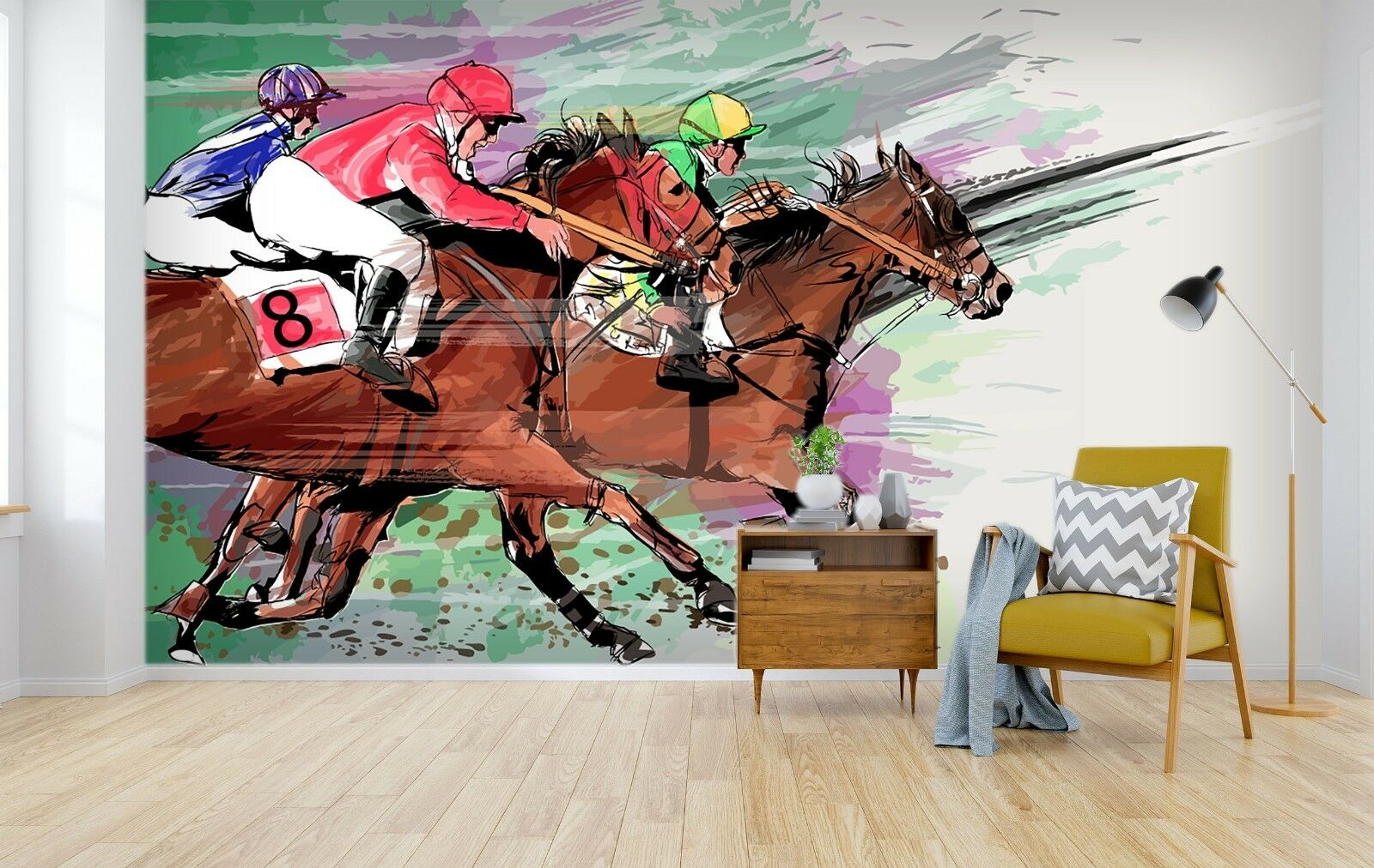 3D Horse Character 76 Wallpaper Mural Paper Wall Print Murals UK Summer