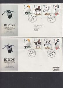 GB-1989-Birds-puffin-ganet-avocet-oystercatcher-Royal-Mail-First-Day-Cover-FDC