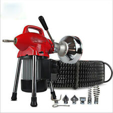 110v 34 4 Sectional Pipe Drain Cleaner Cleaning Machine Electric Snake Sewe