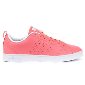 Adidas Womens Advantage Clean VS Ray Pink/White Shoes AW4747 NEW!