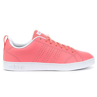 Adidas Women's Advantage Clean VS Ray Pink/White Shoes AW4747 NEW!